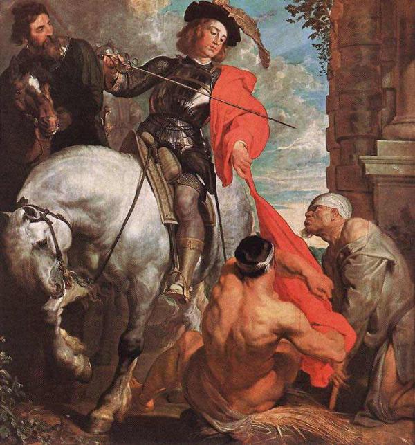 Антонис ван ДЕЙК Св. Мартин разделяет свой плащ. Ок. 1618