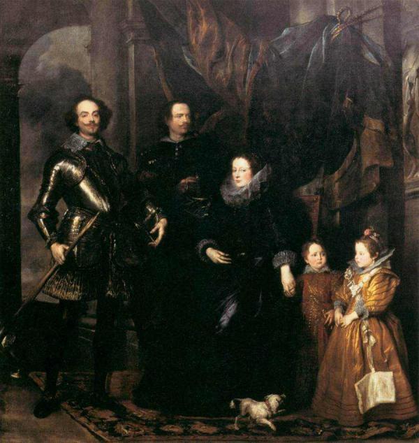 Антонис ван ДЕЙК Портрет семьи Ломмелини. 1626–1627