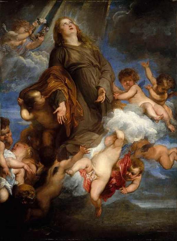Антонис ван ДЕЙК Заступничество Святой Розалии за Палермо во время чумы. 1624–1627