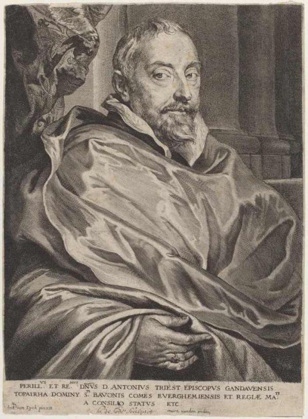 Антонис ван ДЕЙК Портрет епископа Брюгге Антониуса Триеста