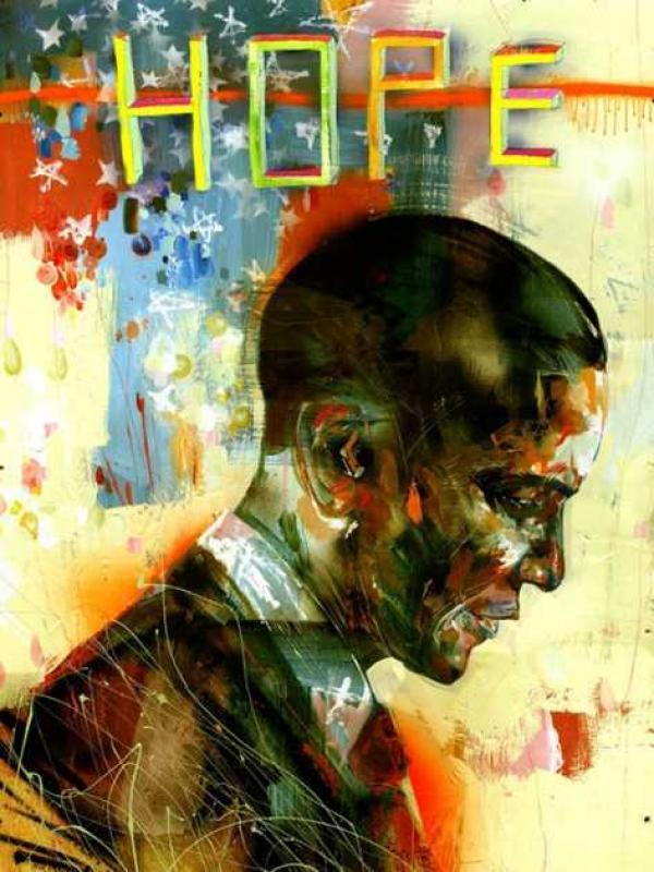 ДЭВИД  ЧО Портрет Барака Обамы