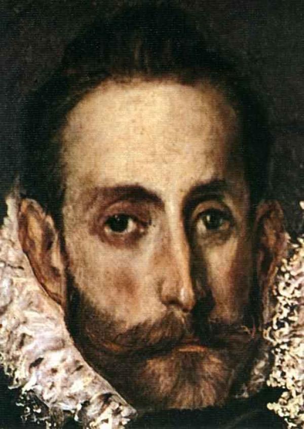 ЭЛЬ ГРЕКО Автопортрет. Фрагмент картины «Погребение графа Оргаса» 1586–1588