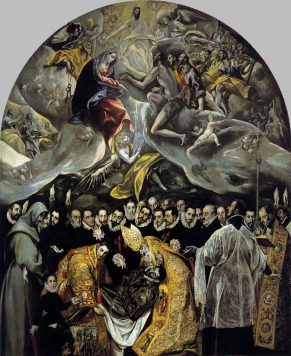 ЭЛЬ ГРЕКО Погребение графа Оргаса. 1586–1588