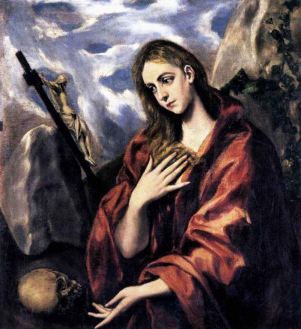 ЭЛЬ ГРЕКО Кающаяся Мария Магдалина. 1585–1590