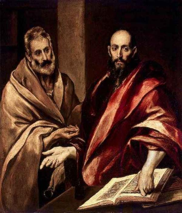 ЭЛЬ ГРЕКО Апостолы Пётр и Павел. 1587–1592
