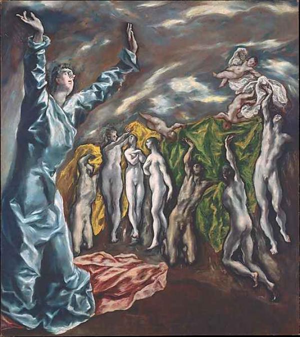 ЭЛЬ ГРЕКО Снятие пятой печати (Видение Иоанна Богослова). 1608–1614