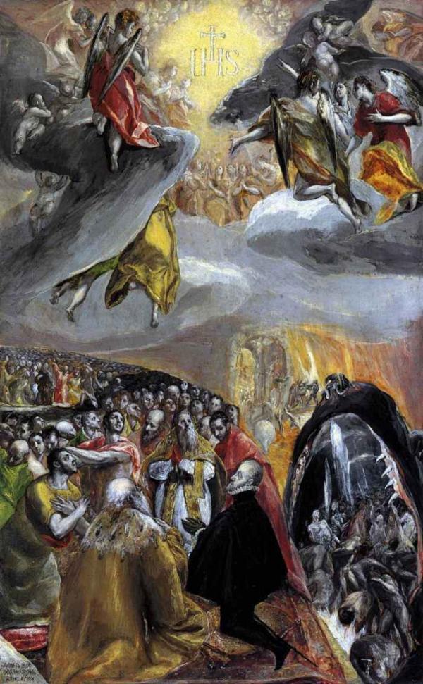 ЭЛЬ ГРЕКО Поклонение имени Христа. Конец 1570-х