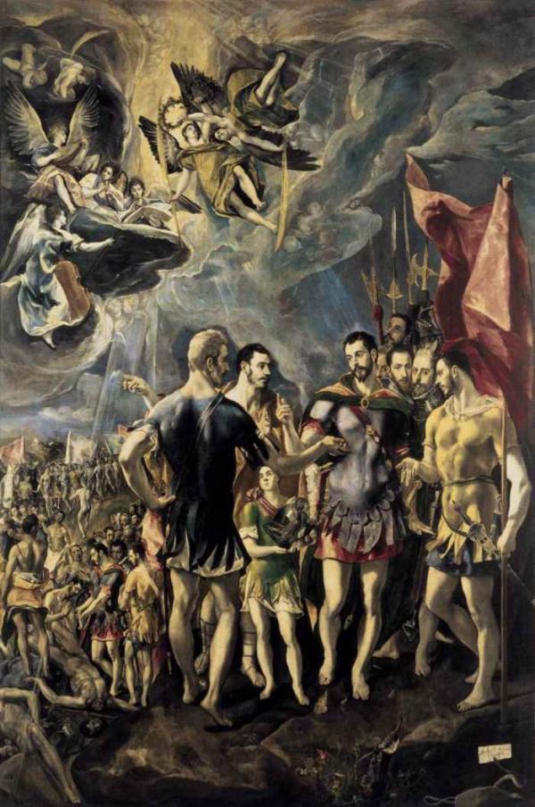 ЭЛЬ ГРЕКО Мученичество Св. Маврикия. 1580–1582