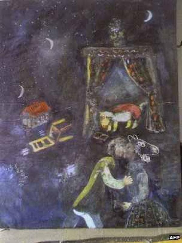 Неизвестная работа Марка Шагала, найденная в квартире Корнелиуса Гурлитта