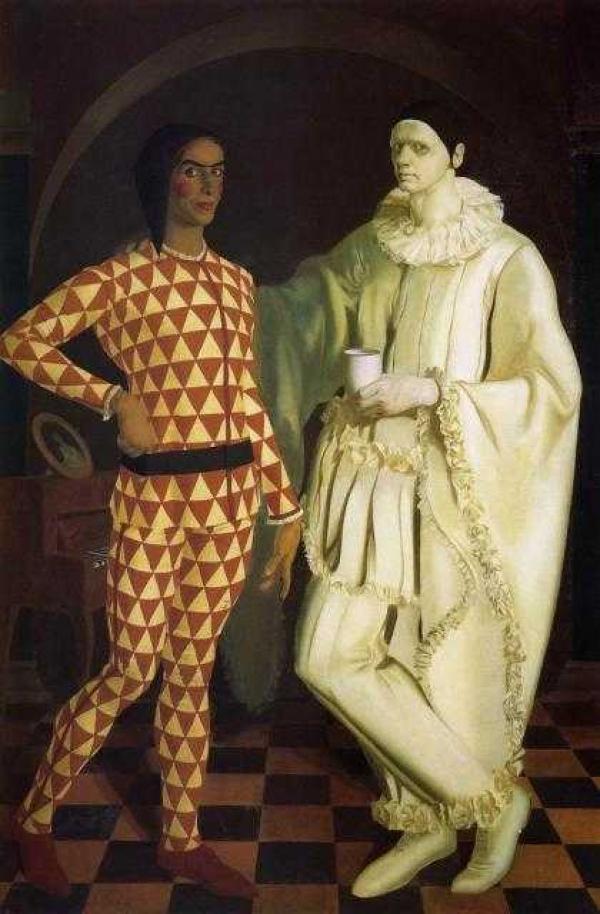 Василий ШУХАЕВ, Александр ЯКОВЛЕВ Автопортреты (Арлекин и Пьеро). 1914–1962