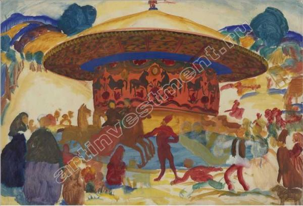 Василий ШУХАЕВ. Этюд к картине «Карусель». 1911–1912