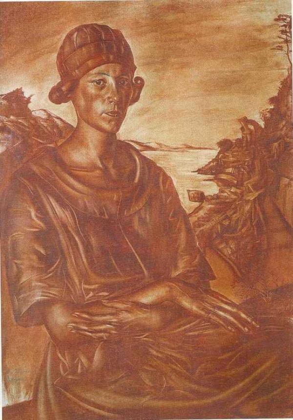 Василий ШУХАЕВ. Портрет С.Н.Андрониковой. 1917