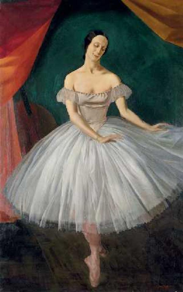 Василий ШУХАЕВ. Портрет Анны  Павловой. 1921