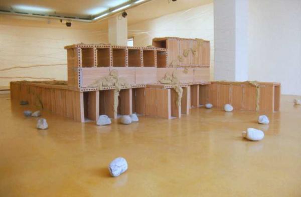 УРС  ФИШЕР Инсталляция «Без названия» («50 камней»). Инсталляция «Скелет». 1996