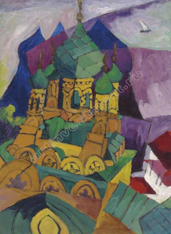 9. ЛЕНТУЛОВ А. В. Церковь в Алупке. 1916