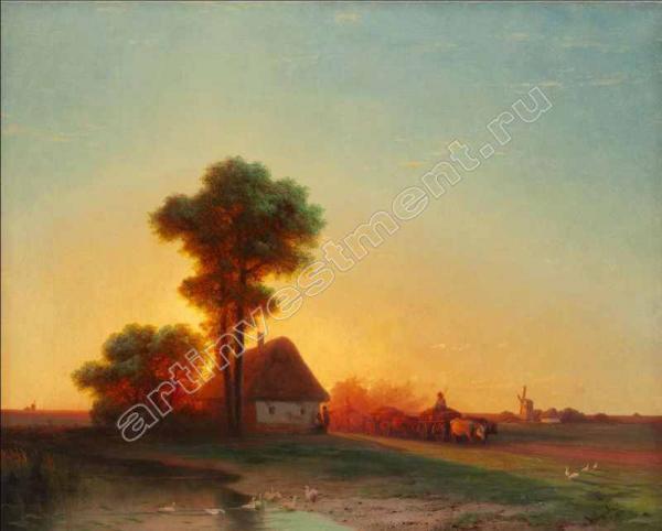 3. АЙВАЗОВСКИЙ И.К. Вечер на Украине. 1866