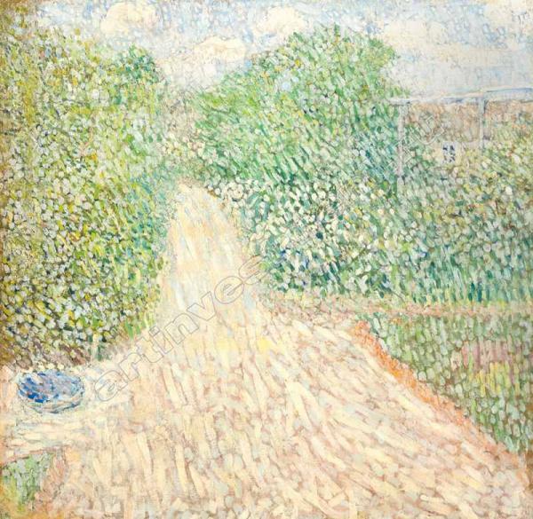 5–6. БАРАНОВ-РОССИНЕ В.Д. Дорожка в саду. 1907