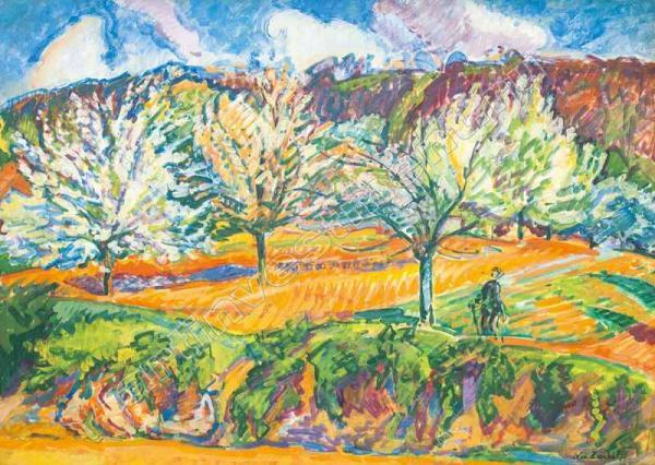 5–6. ТАРХОВ Н.А. Цветущие деревья. Орсе. Начало 1900-х