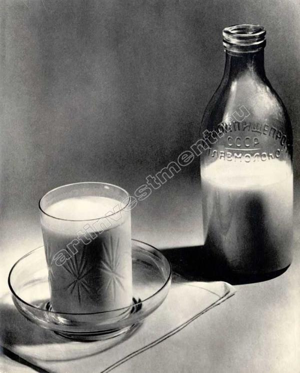 АЛЕКСАНДР ХЛЕБНИКОВ Натюрморт—  Молоко. 1926