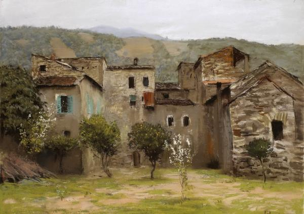 ИСААК ЛЕВИТАН Близ  Бордигеры на севере Италии