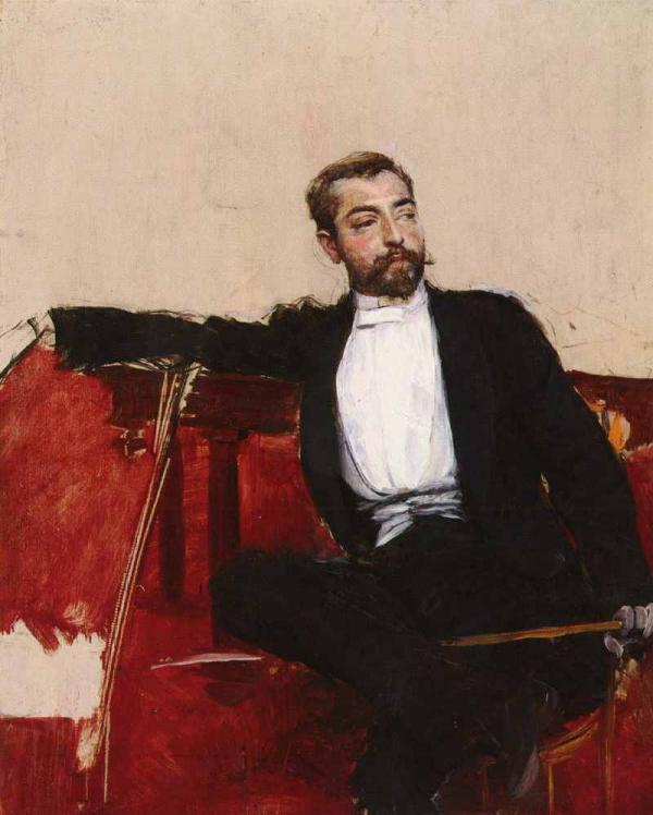 Дж. БОЛДИНИ. Портрет Джона Сингера Сарджента. 1890-е