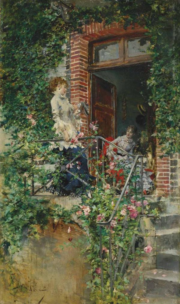 Дж. БОЛДИНИ На террасе. 1870-е