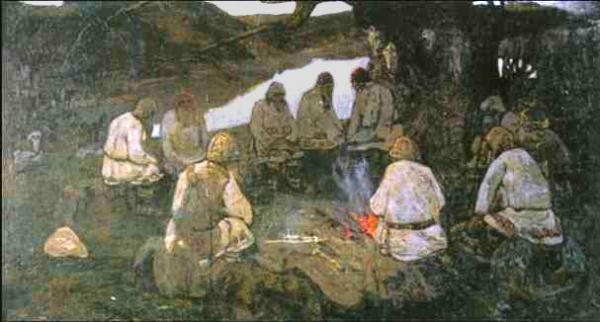 Н.К.РЕРИХ Сходятся  старцы. 1898