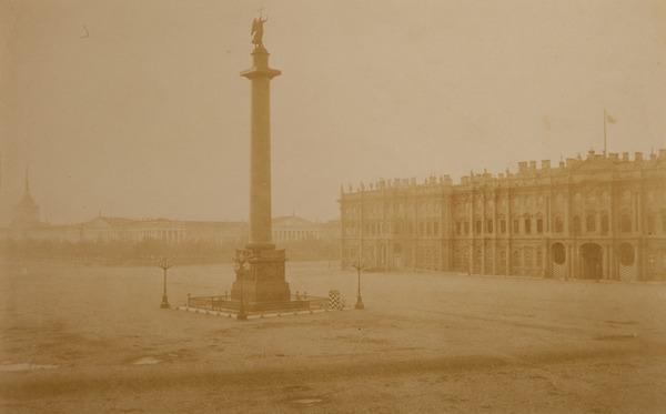 ИВАН БИАНКИ  Санкт-Петербург. Дворцовая площадь с Александровской колонной, 1834.