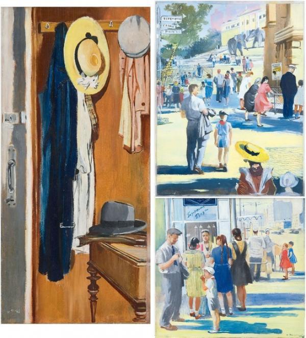 Ю.И.ПИМЕНОВ  Три иллюстрации к книге С.Я.Маршака «Хороший день». 1948