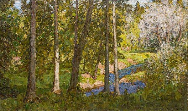 П.И.ПЕТРОВИЧЕВ  Весна в лесу. 1913