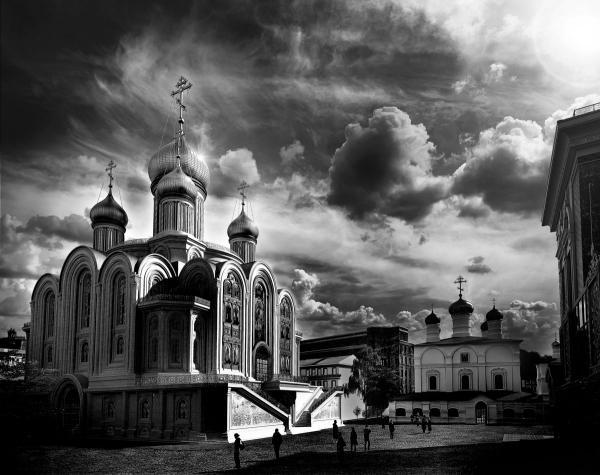 Вид храма Сретенского монастыря