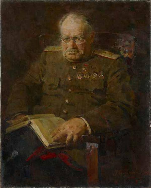 ПЁТР КОТОВ Портрет Н.Н.Бурденко.  1943