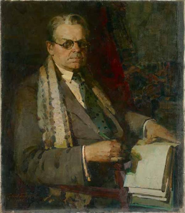 ПЁТР КОТОВ Портрет А.А.Шовкуненко.  1944