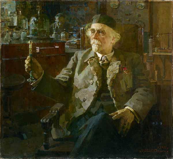 ПЁТР КОТОВ Портрет  Н.Д.Зелинского. 1947