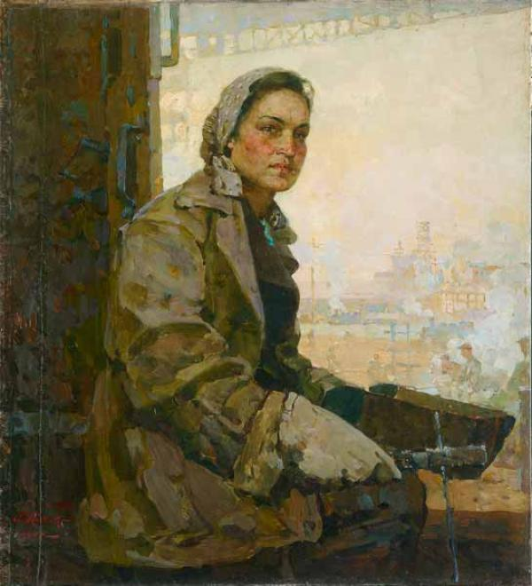 ПЁТР КОТОВ Портрет  Е.К.Михеевой. 1947