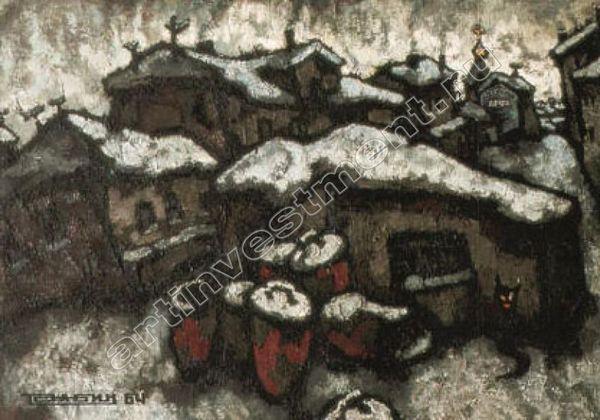 РАБИН О.Я.Деревня  зимой. 1964