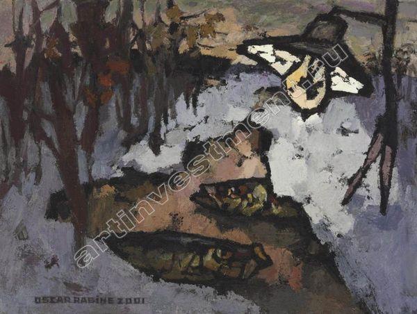 РАБИН О.Я. Ночь,  лужа, две селедки, лес. 2001