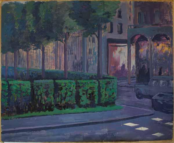 МИХАИЛ РОГИНСКИЙ Парижский  пейзаж (ул. Риволи). 1981