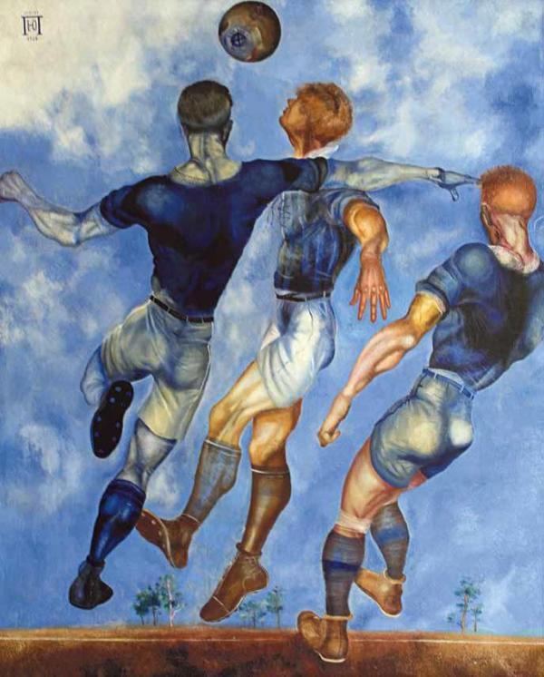 ЮРИЙ ПИМЕНОВ Футболисты. 1926