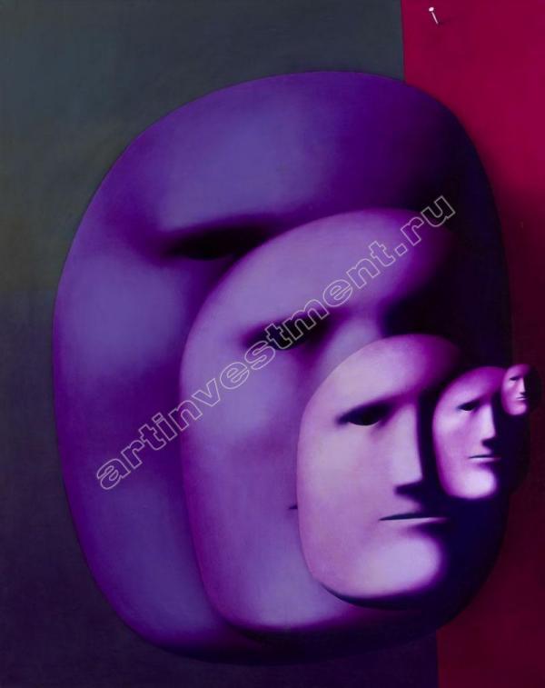 Аукционный рекорд для творчества Целкова был установлен в Лондоне шесть лет назад. Пять лиц. 1980