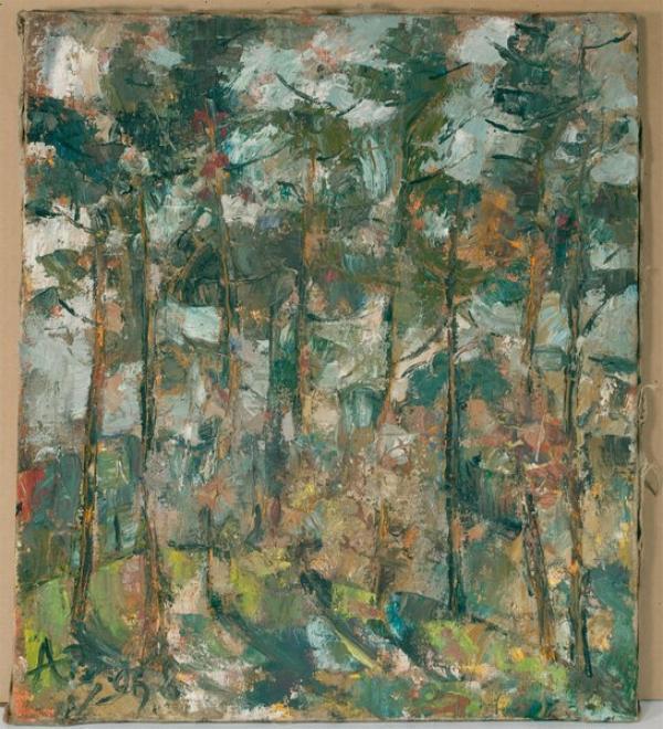 ЗВЕРЕВ Анатолий Тимофеевич (1931–1986) Пейзаж. Деревья. Николина Гора. 1968