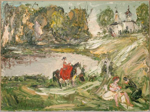 СЛЕПЫШЕВ Анатолий Степанович (1932) Конная прогулка. 2002
