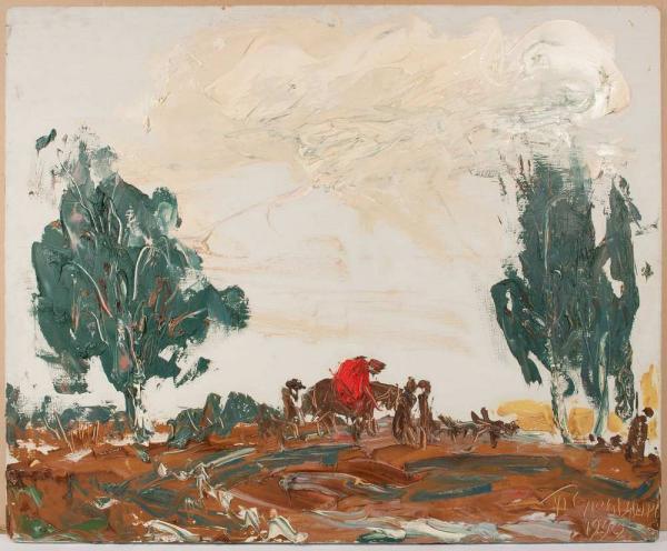 СЛЕПЫШЕВ Анатолий Степанович (1932) В поле. 1990