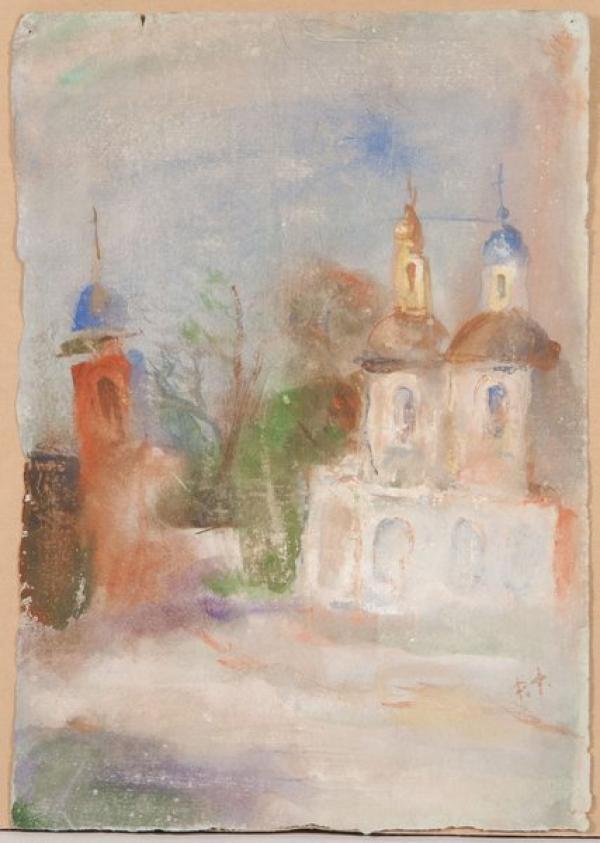ФАЛЬК Роберт Рафаилович (1886–1958)  Церковь с колокольней. 1950-е