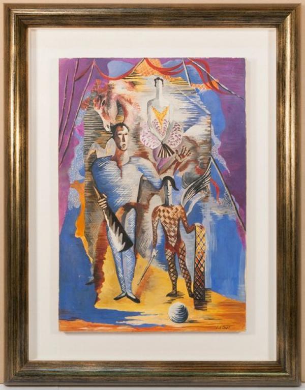 ФЕРА Серж (1881–1958) Цирк (Акробаты и  наездница). Конец 1940-х— начало 1950-х