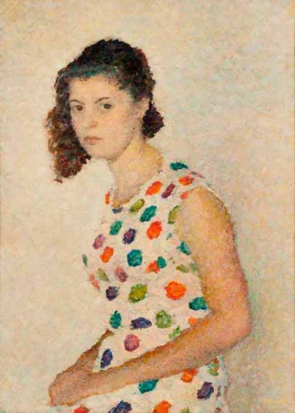 ВЛАДИМИР ВЕЙСБЕРГ  Портрет Маши Либединской. 1958