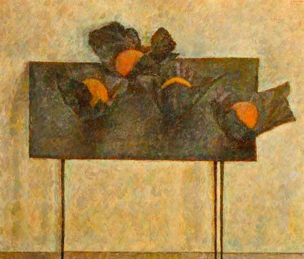 ВЛАДИМИР ВЕЙСБЕРГ Апельсины  в бумажках на черном столе. 1961