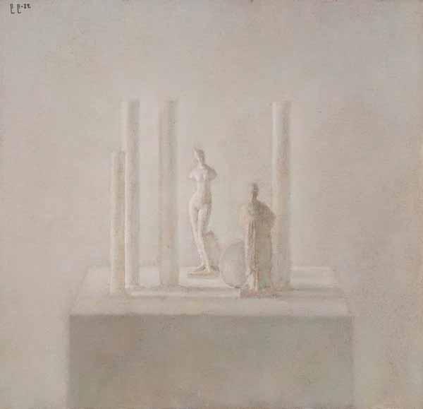 ВЛАДИМИР ВЕЙСБЕРГ  Четыре колонны с Венерой и танагрой. 1982