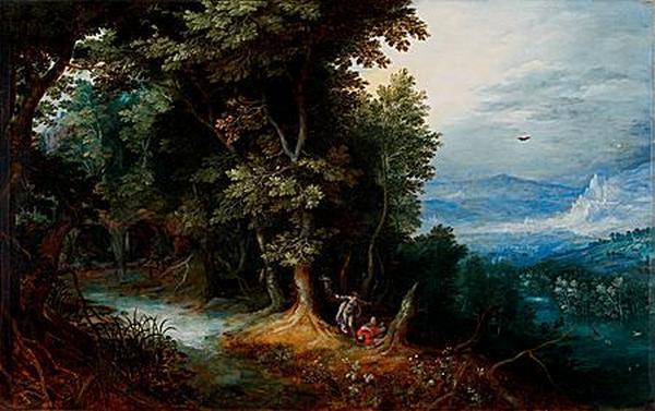 ЯН  БРЕЙГЕЛЬ СТАРШИЙ Венера и Адонис (или Анжелика и Медор)