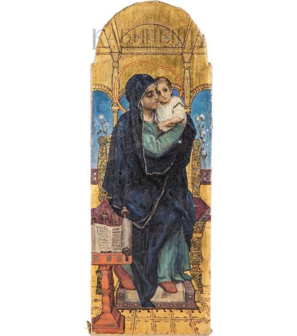 Виктор ВАСНЕЦОВ Богоматерь с младенцем на троне. Конец XIX — начало ХХ